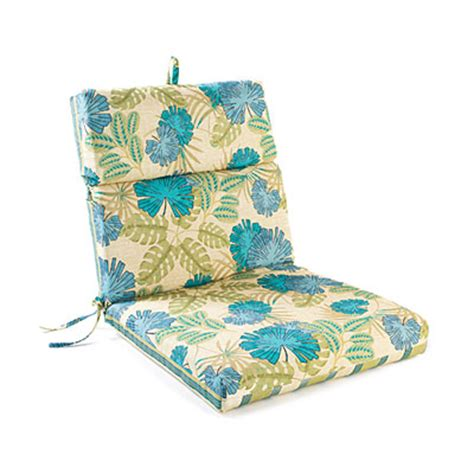 blossom stripes reversible outdoor chair cushion