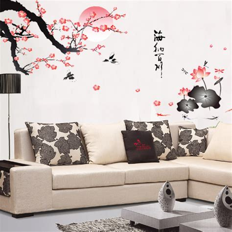 aliexpress buy removable flower wall sticker pink wall decor style mural home