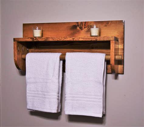 bathroom shelf with towel rack towel rack wooden towel rack
