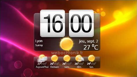 htchome une magnifique horloge htc sense pour windows 7 et windows vista webochronik