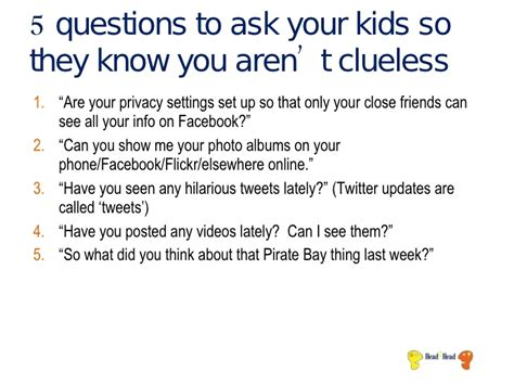 Questions To Ask Students Social Media 101 For Parents Do