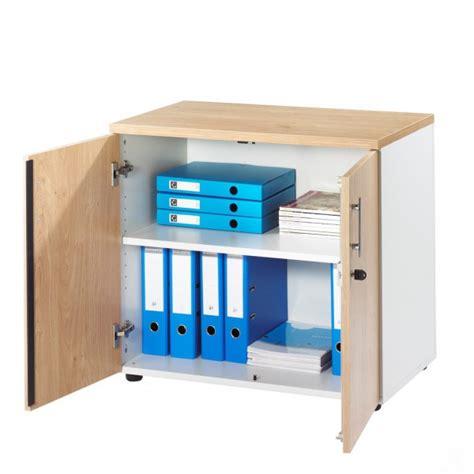 pour le bureau armoire basse 2 portes blanche ineo meubles et domotique