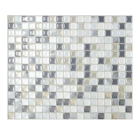 smart tiles 9 65 in x 11 55 in peel and stick mosaic decorative wall tile minimo in noche 6