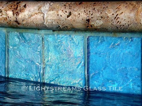 6x6 Aqua Pool Tile by Lightstreams Glass Waterline Tile Various Colors