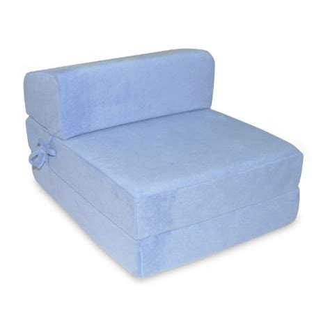 single memory foam z bed folding sofa bed chair guest bed in sky blue martha h fleming