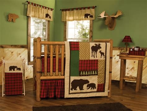 northwoods baby bedding crib set 6 pc outdoor cabin country moose rustic ebay