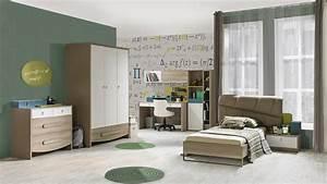 Bett Und Schrank : jugendzimmer green 90x200cm bett schrank 3trg modern braun beige 76004 8 14 3 6 1 ~ Markanthonyermac.com Haus und Dekorationen