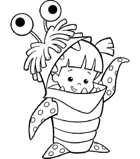 coloriage a imprimer la fillette en costume de monstre gratuit et colorier