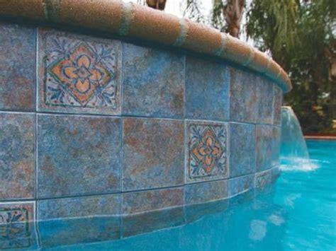 6x6 Aqua Pool Tile by National Pool Tile Raku 6x6 Series Cobalt Blue