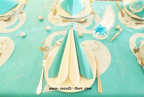 decoration mariage bleu turquoise et or