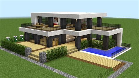 Minecraft  How To Build A Modern House 20 Youtube