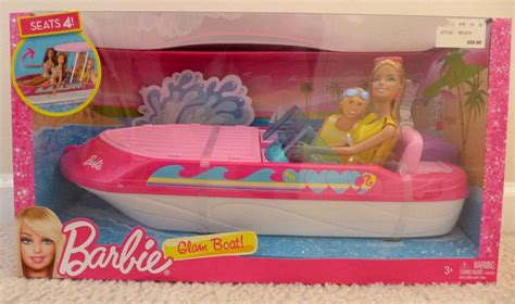 Buy Barbie Boat by New Barbie Glam Boat With Canopy With 4 Seats Includes