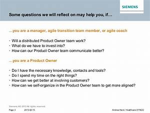 Distributed Product Owner Team @ syngo - presented at ...