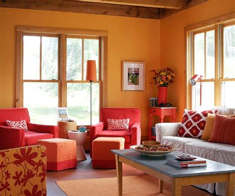 warm colors for a living room add color to your living room orange living