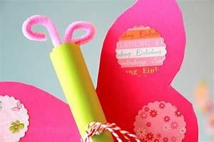 Basteln Mit Kindern 5 Geburtstag : diy schmetterling geburtstagseinladung ~ Whattoseeinmadrid.com Haus und Dekorationen