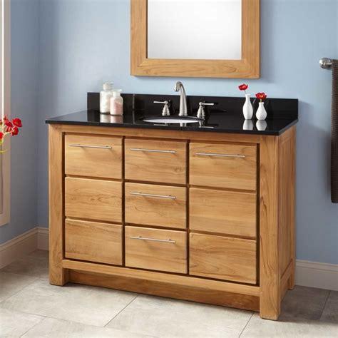 Narrow Depth Bathroom Vanity With Sink by 48 Quot Narrow Depth Venica Teak Vanity For Undermount Sink