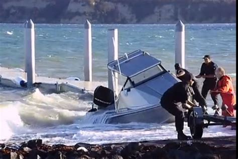Boat Launch Gone Bad by Boat Fail Video Trailboat Gets Wet On Recovery Motor