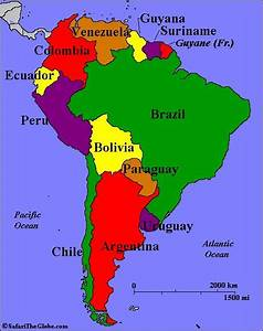 Map of South America and Their Capitals | Argentina Chile ...