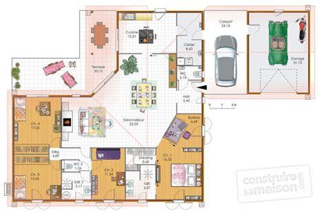 grande maison de plain pied d 233 du plan de grande maison de plain pied faire construire
