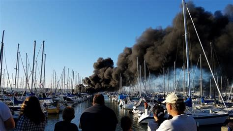 Everett Fire Boat by Five Boats Damaged As Fire Hits Everett Marina Komo