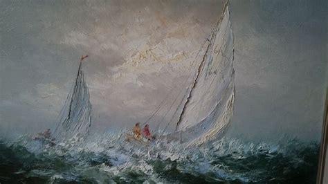 Zeiljacht Op Zee by Peter Brouwer 1935 2010 Zeiljacht Op Volle Zee Catawiki