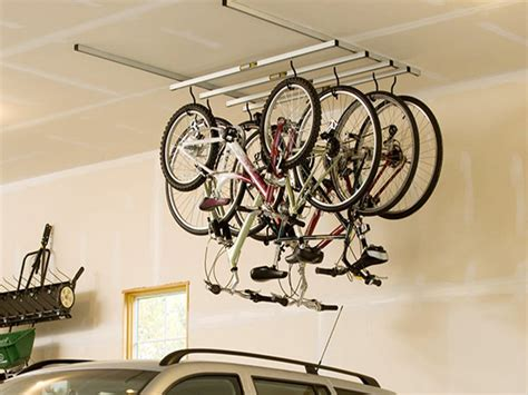 garage ceiling storage bike racks for garage walls bike