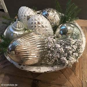 Tischdeko Für Weihnachten Ideen : schale dekorieren zu weihnachten kreativliste ~ Markanthonyermac.com Haus und Dekorationen