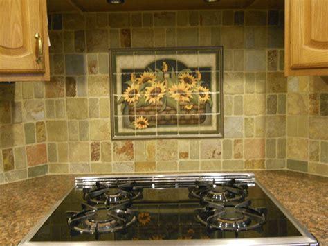 decorative tile backsplash kitchen tile ideas sunflower basket tile mural sunflower