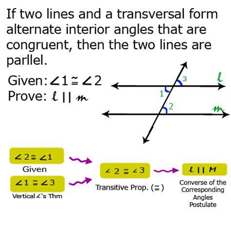 alternate interior angles theorem 3 2 proving the converse of the alternate interior angles