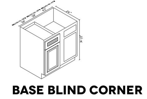 what are the base blind corner cabinet sizes of