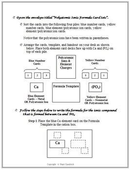 Chemistry Naming & Formulas Polyatomic Ions & Hydrates
