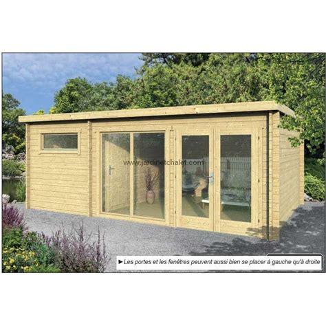 cabane de jardin moderne chalet habitable toit plat flow 20m2 promo