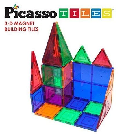 picasso tiles clear 3d magnetic building blocks 60