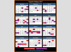 Gujarat Holidays 2017