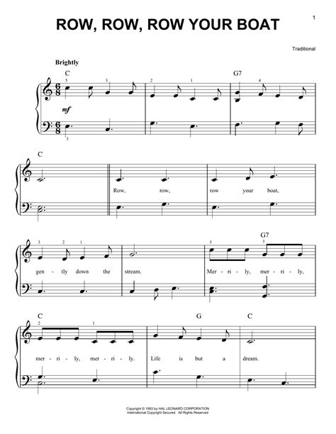 Sheet Music Row Your Boat by Row Row Row Your Boat Sheet Music Direct