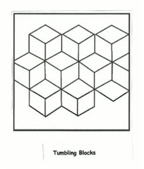 Tumbling Block Quilt Pattern Template by Underground Railroad Quilt Patterns Templates Symbol