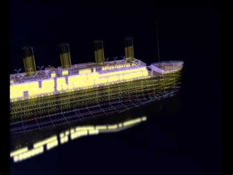 Titanic Sinking Animation 3d by Titanic Construction And Sinking 3d Animation
