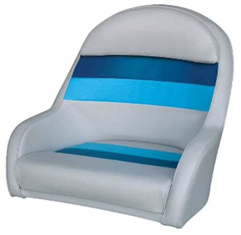 wise deluxe captain s chair light grey navy blue