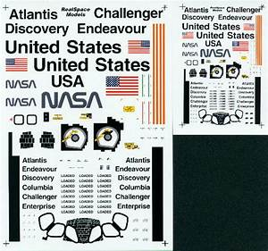 Space Shuttle Model Decals - Pics about space
