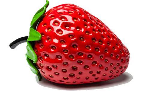 objet d 233 coratif strawberry statue design pas cher