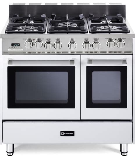 verona 36 quot oven dual fuel range transitional gas ranges and electric ranges new