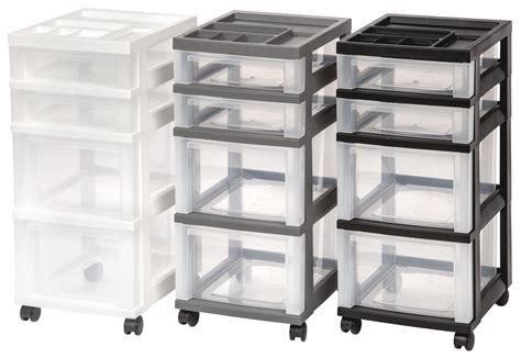Iris 4-drawer Rolling Storage Cart With Organizer Top, Gray Go Ez Undermount Drawer Slides Bottoms Sagging Replacement Wood Fellowes Wire Sorter 73014 Micro Runners What Is Under Oven Barista Knock Out Large Gun Safe