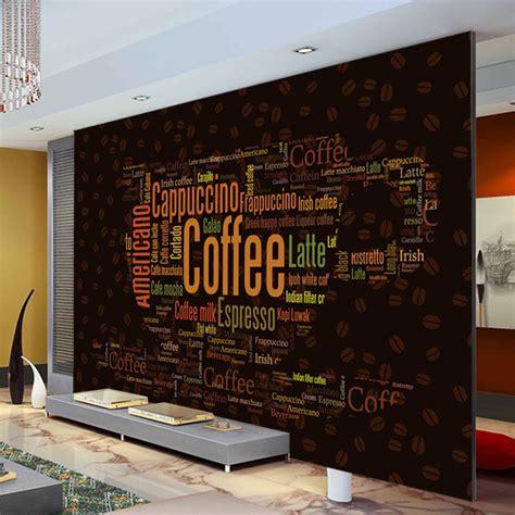 aliexpress buy coffee letters wallpaper custom 3d wall mural fashion photo wallpaper