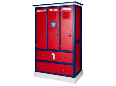 Childern's Locker Style Dresser Sports Themed Furniture
