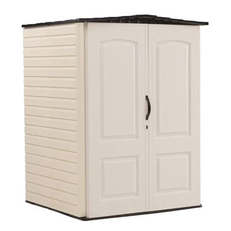 shop rubbermaid storage shed common 5 ft x 4 ft actual interior dimensions 4 33 ft x 4 ft