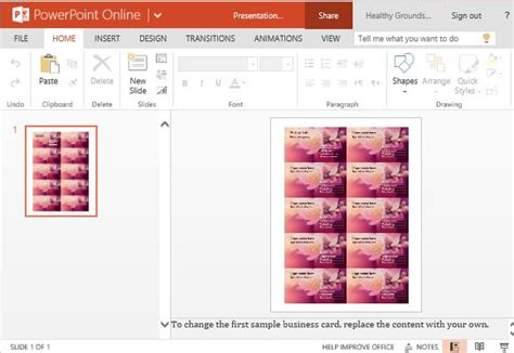 Business Cards Maker Template For Powerpoint