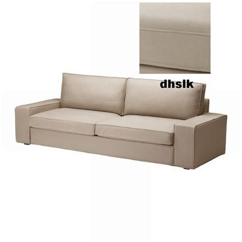 ikea kivik sofa bed slipcover sofabed cover dansbo beige last one