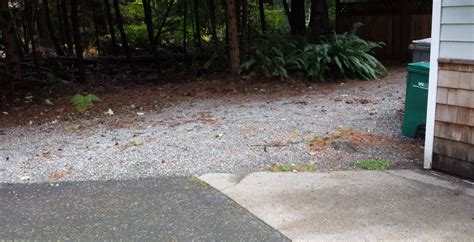 Drainage  Can I Regrade This Gravel Section Of Yard