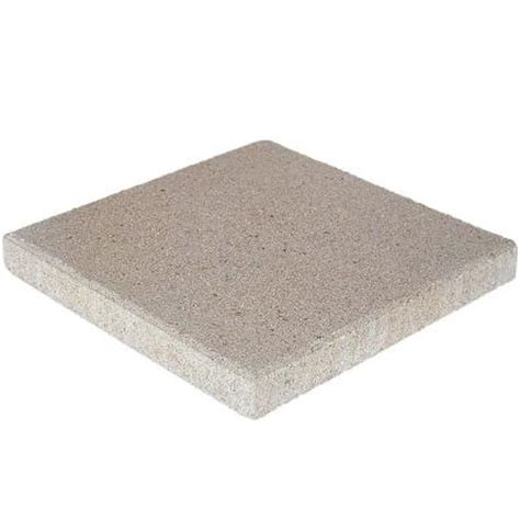 pavestone 16 in x 16 in pewter concrete step 72600