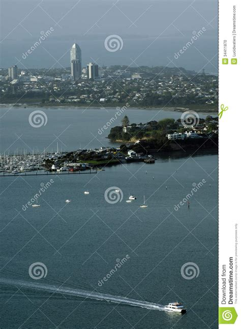 Boat Dealers Auckland New Zealand by Aerial View Of Boats Outside Takapuna In Auckland Nz